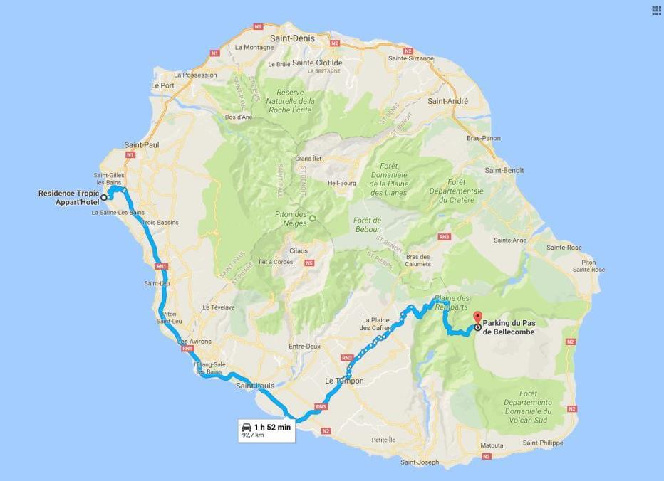 Itinéraire Piton de la Fournaise