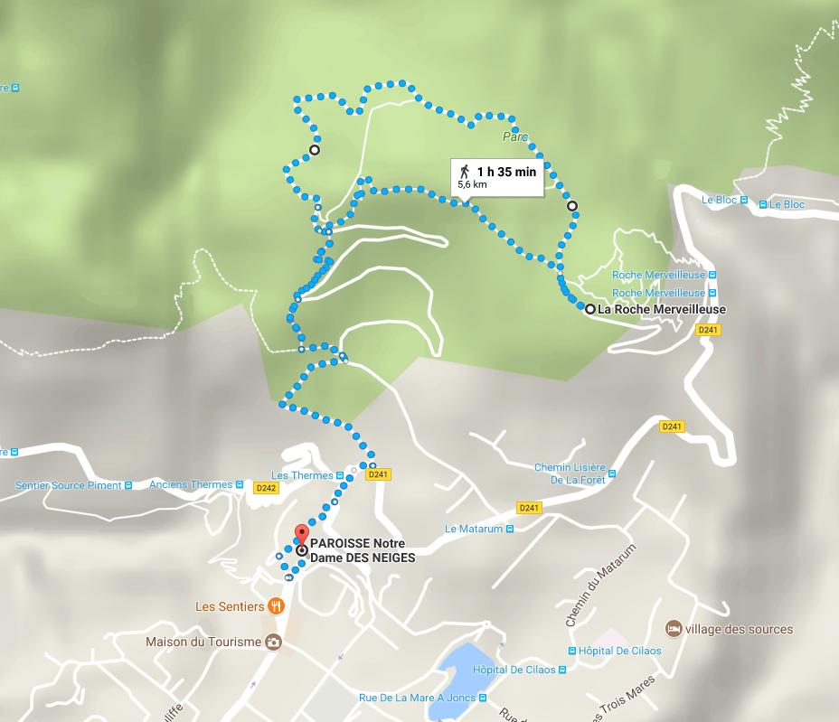 Trail la Roche merveilleuse