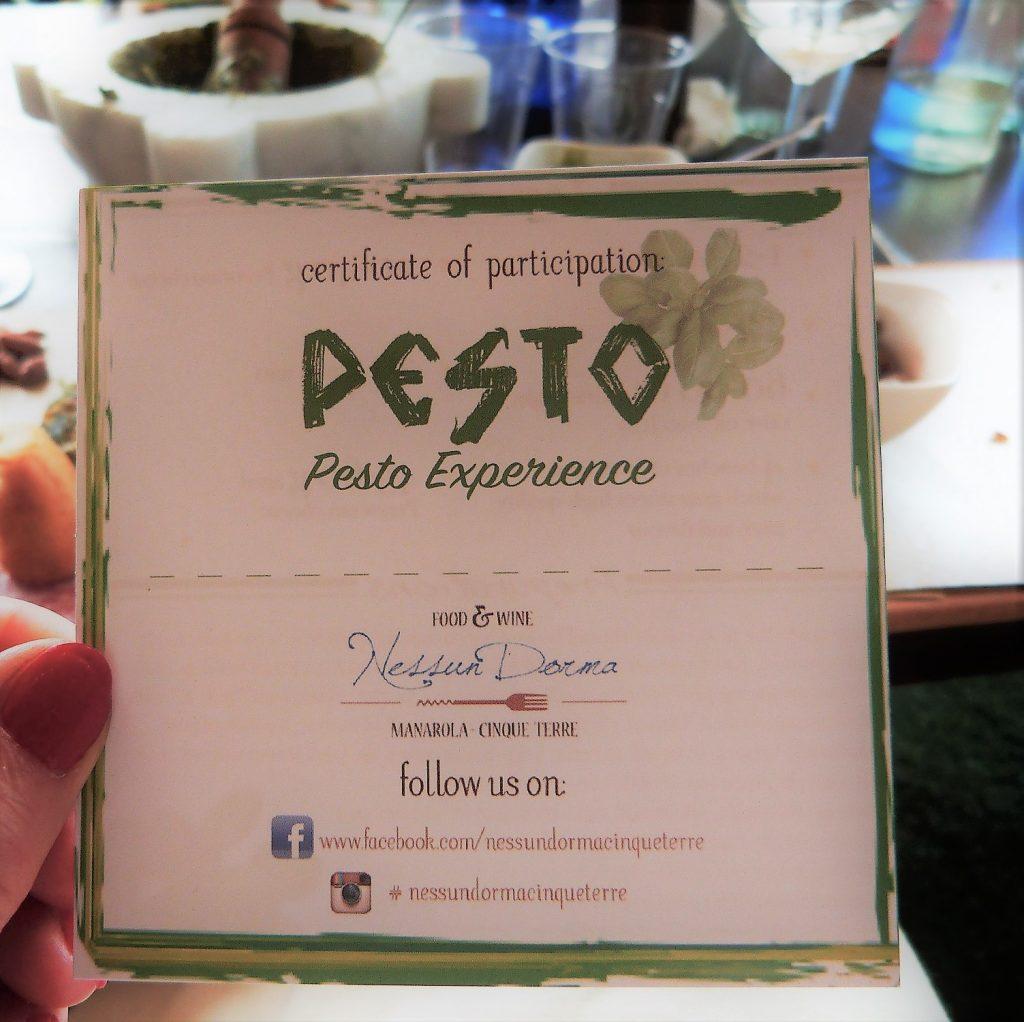 Nessun Dorma Pesto Experience