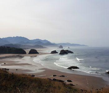 Vue sur Crescent Beach Oregon