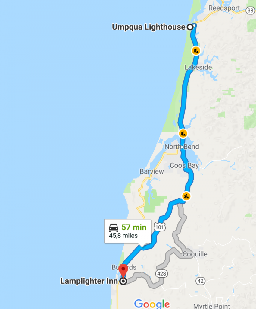 Bandon itinéraire