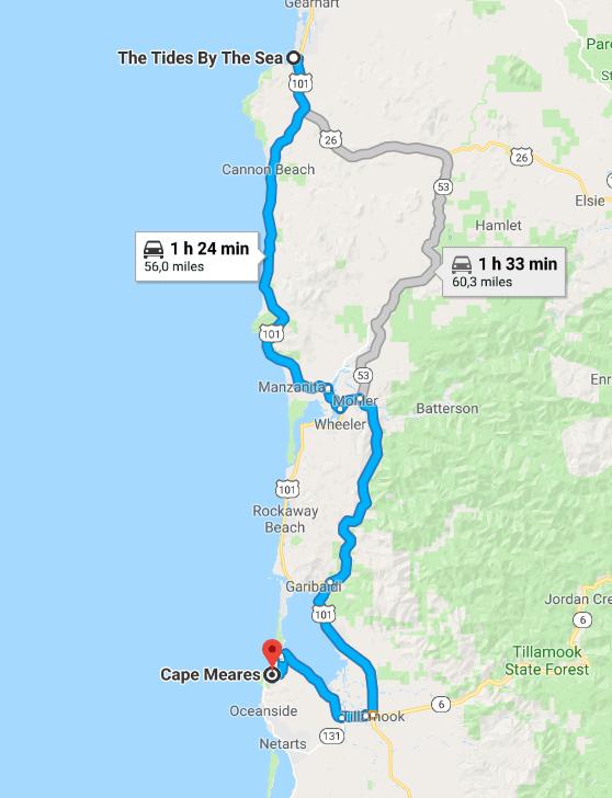 Itinéraire Cape Meares