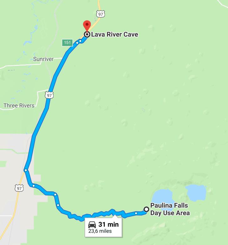 Lava River Cave Itinéraire