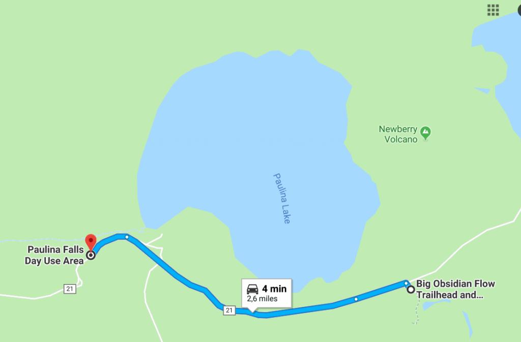 Paulina Falls Itinéraire