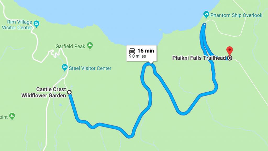 Plaikni falls itinéraire