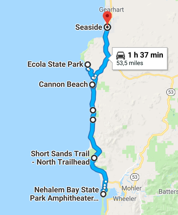 Itinéarire Oregon coast jour 4