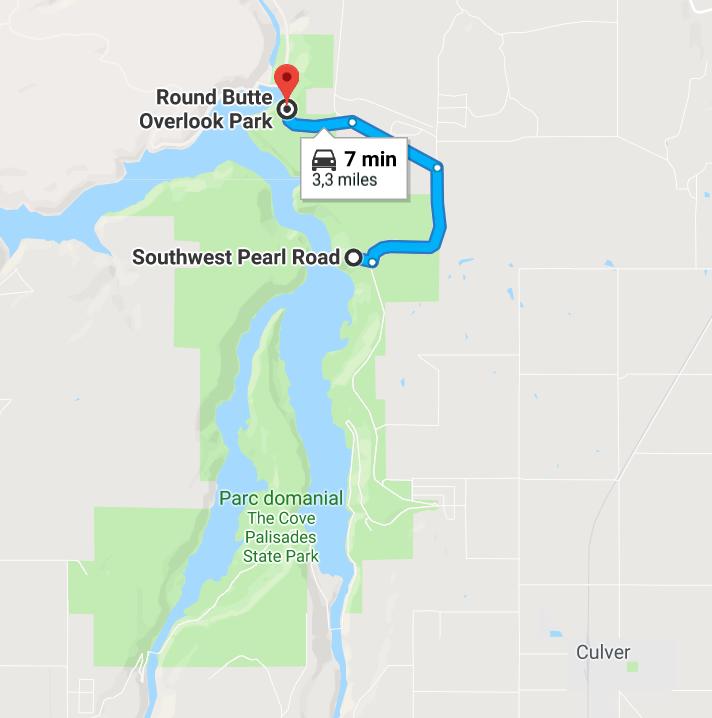 Itinéarire Round Butte Overlook Park