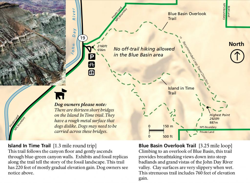 john-day-fossil-beds-blue-basin-trail-map