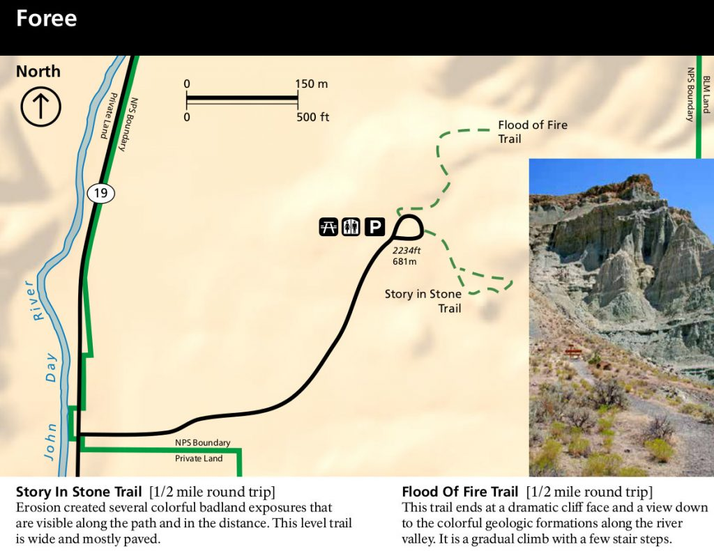 john-day-fossil-beds-foree-trail-map