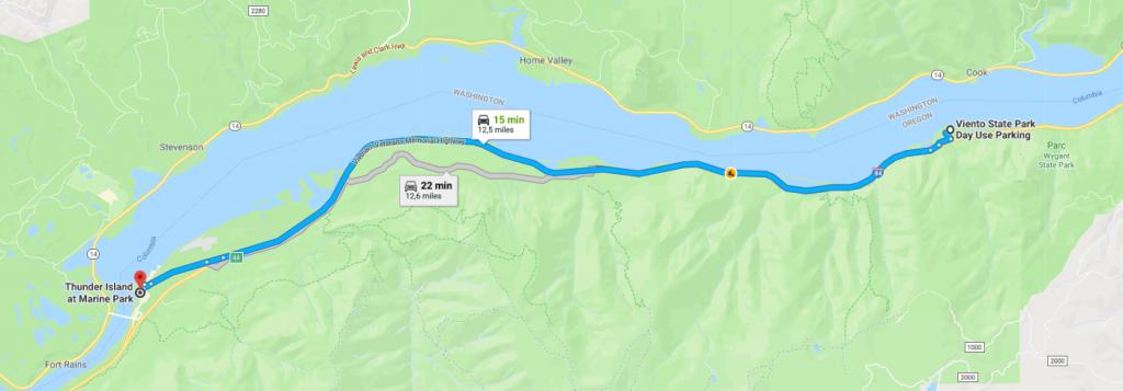 Thunder Island Itinéraire