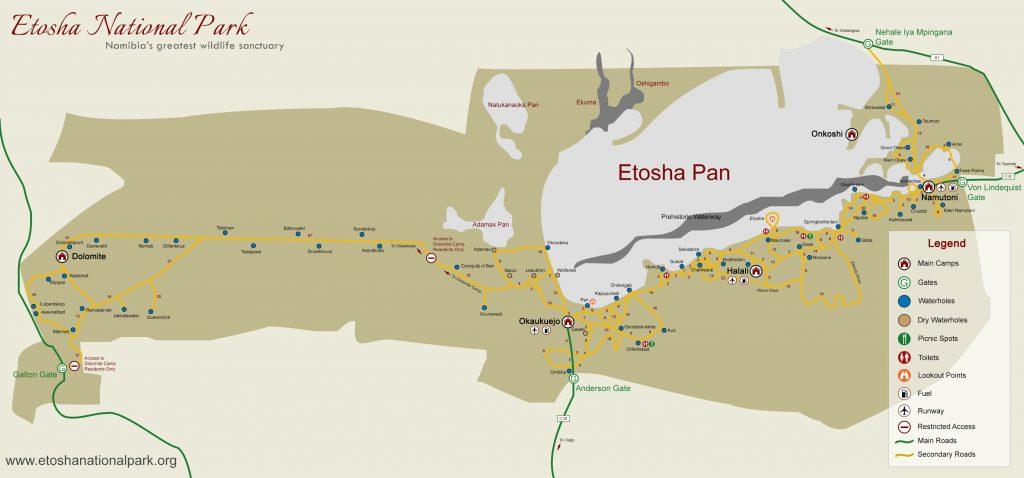 Carte d'Etosha