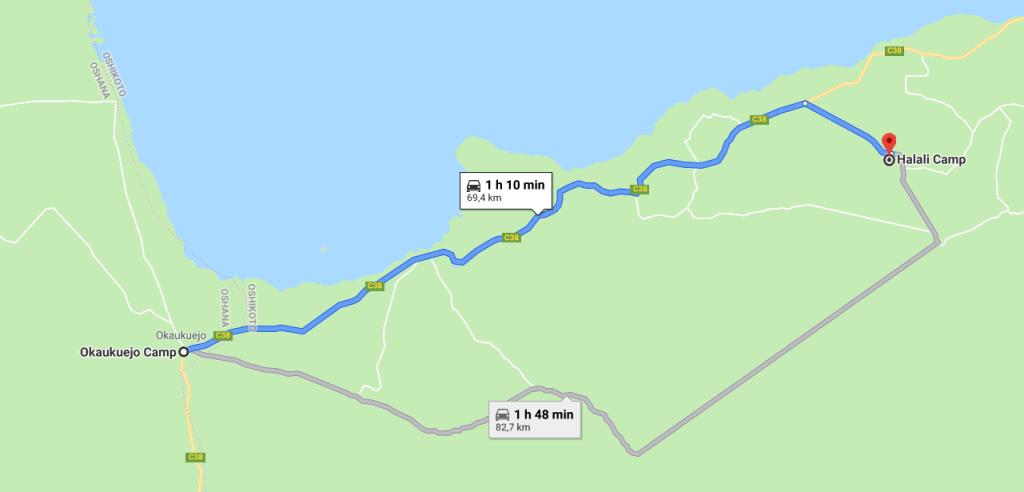 Itinéraire Halali
