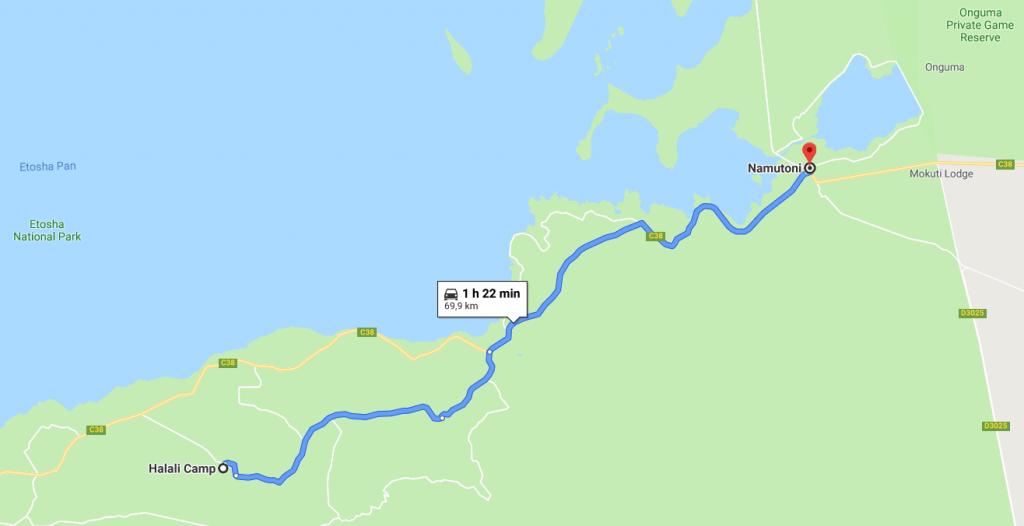 Itinéraire Namutoni