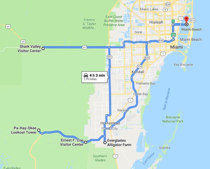 Itinéraire Everglades