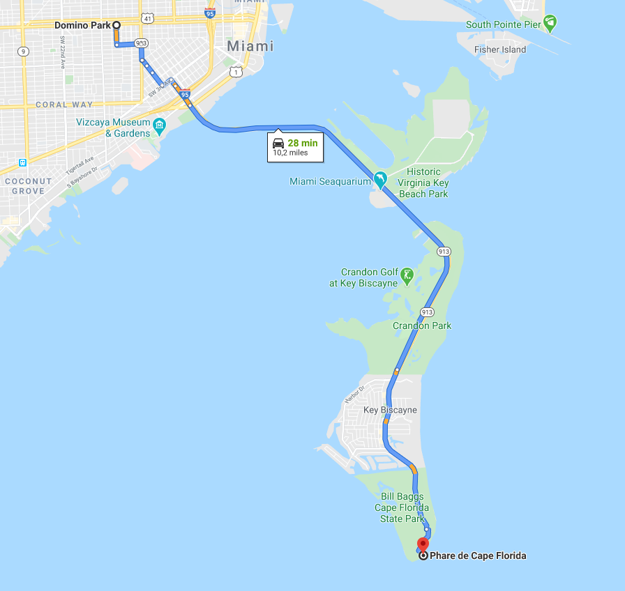 Itinéraire Key Biscayne