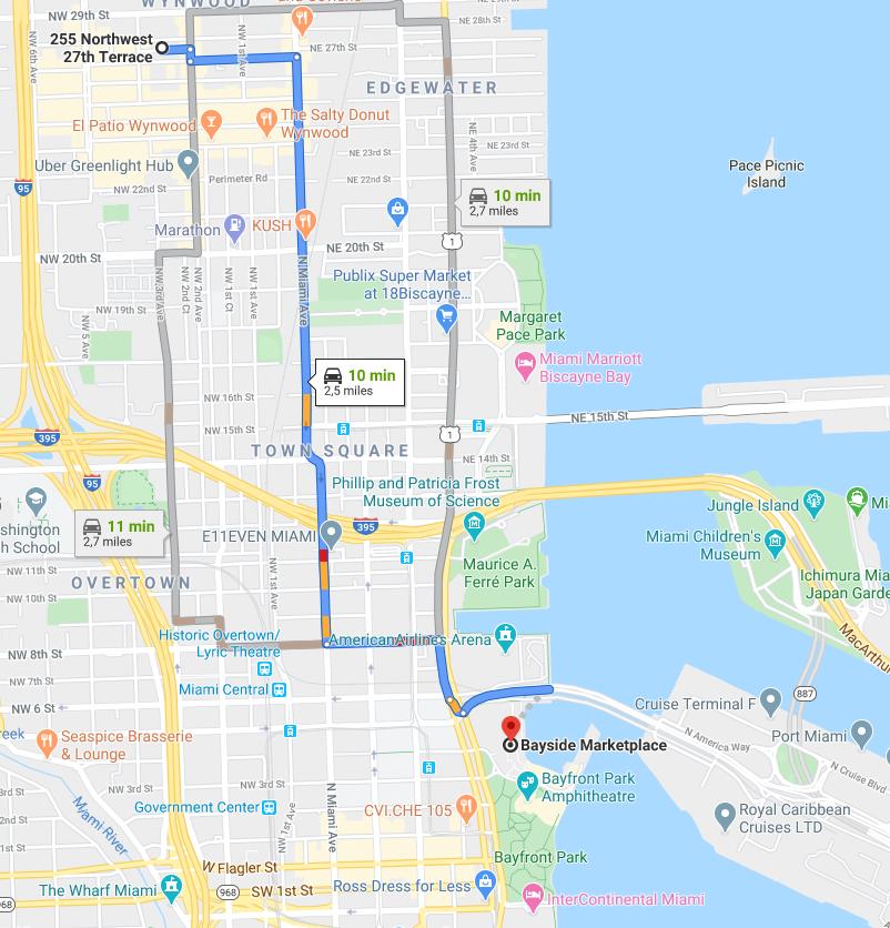Itinéraire Bayside